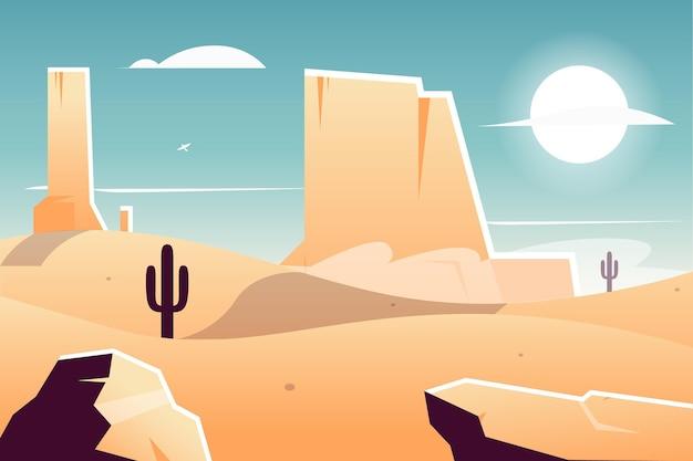 Hintergrund mit wüstenlandschaftsthema