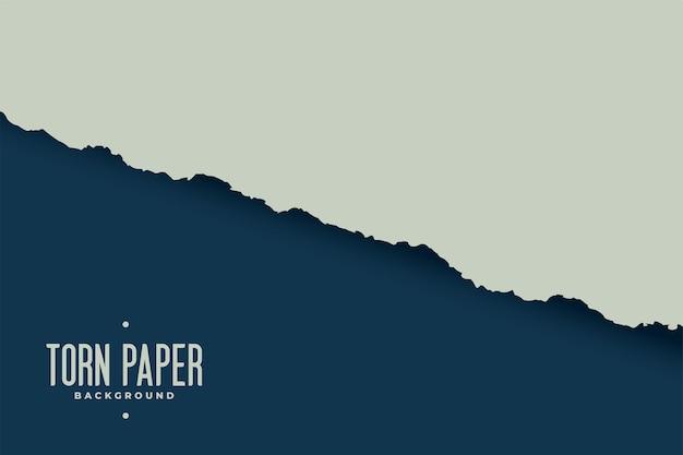 Hintergrund mit zerrissenem papierblattrand
