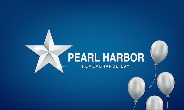 Hintergrund pearl harbor erinnerung mit amerikanischen flaggen, ballons