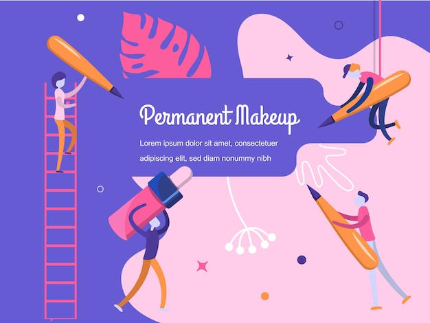 Hintergrund permanent make-up
