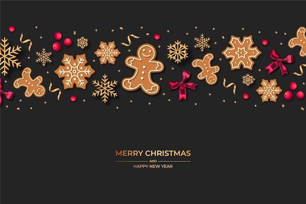 Hintergrund realistische dekoration weihnachten