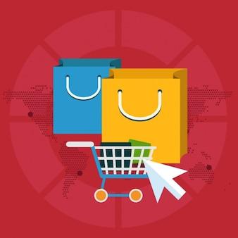 Hintergrund über e-commerce