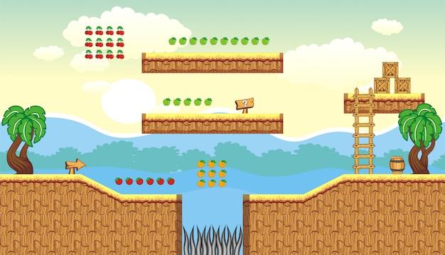 Hintergrund und objekt zum erstellen von 2d-spiel