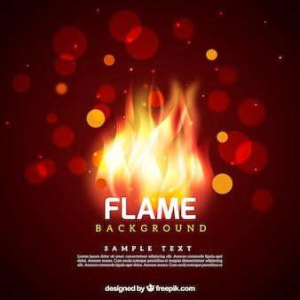 Hintergrund unscharf bokeh von flammen
