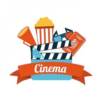 Hintergrund-vektorillustration des kinodesigns overwhite