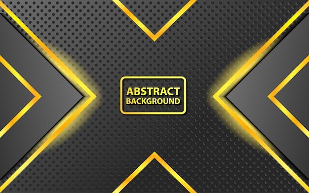 Hintergrund von abstrakten schwarz- und goldfarbkombinationen