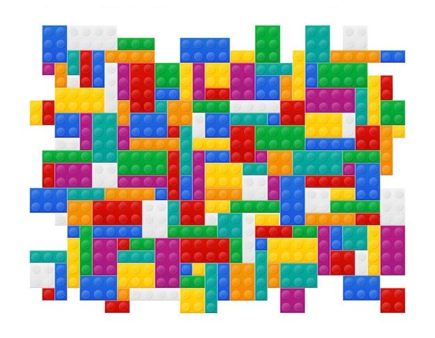Hintergrund von elementen die draufsicht-vektorillustration des plastikerbauers