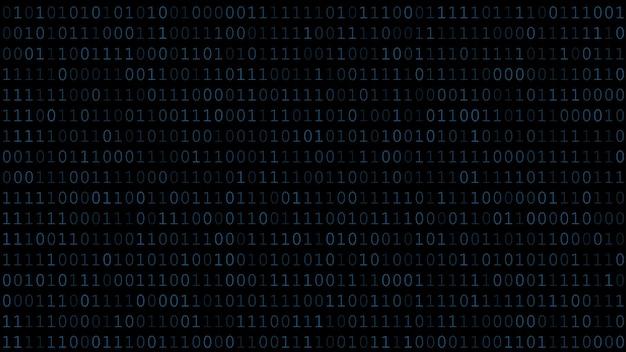 Hintergrund von nullen und einsen in dunkelblauen farben