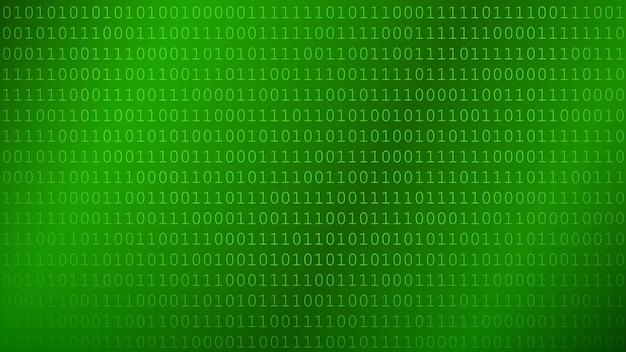 Hintergrund von nullen und einsen in grünen farben