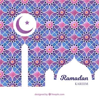 Hintergrund von ramadan mit bunten mosaiken