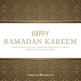 Hintergrund von ramadan mit realistischem muster