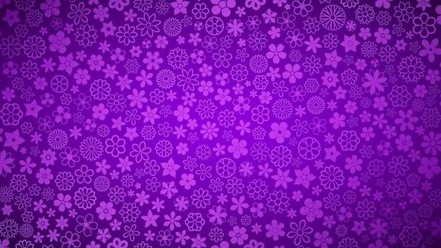 Hintergrund von verschiedenen kleinen blumen in lila farben