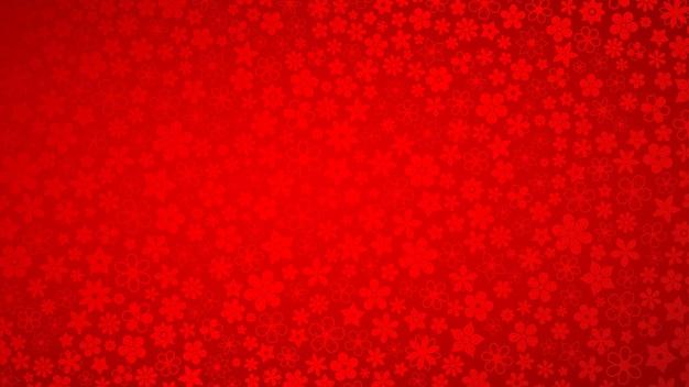 Hintergrund von verschiedenen kleinen blumen in roten farben