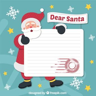 Hintergrund von weihnachtsmann mit brief