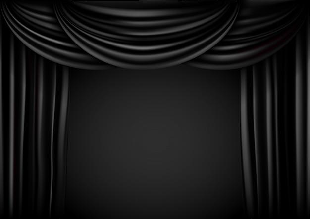 Hintergrund vorhang bühne