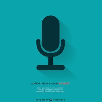 Hintergrund-vorlage mit mikrofon