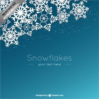 Hintergrund-vorlage mit weißen schneeflocken