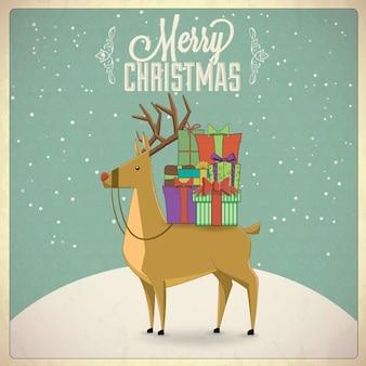 Hintergrund weihnachten hirsch illustration