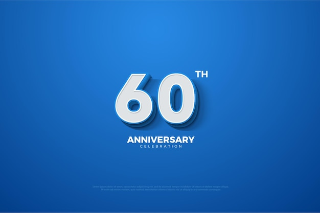 Hintergrund zum 60. jahrestag mit 3d-maßzahlen, die entstehen.