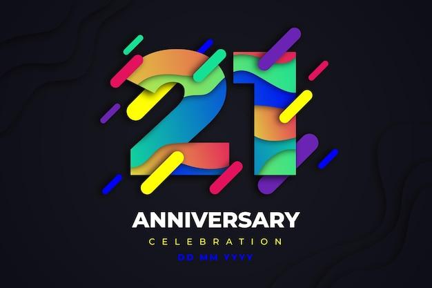 Hintergrund zum jubiläum mit farbverlauf 21