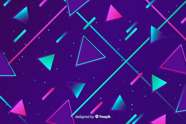 Hintergrundart der achtziger jahre der geometrischen formen