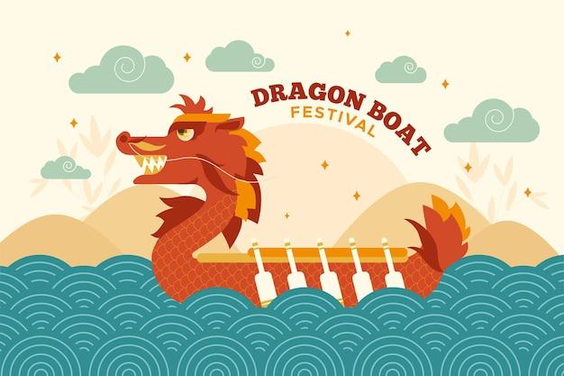 Hintergrundbild des drachenbootfestivals