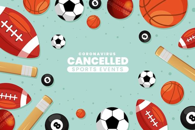 Hintergrundbild für sportveranstaltungen abgesagt
