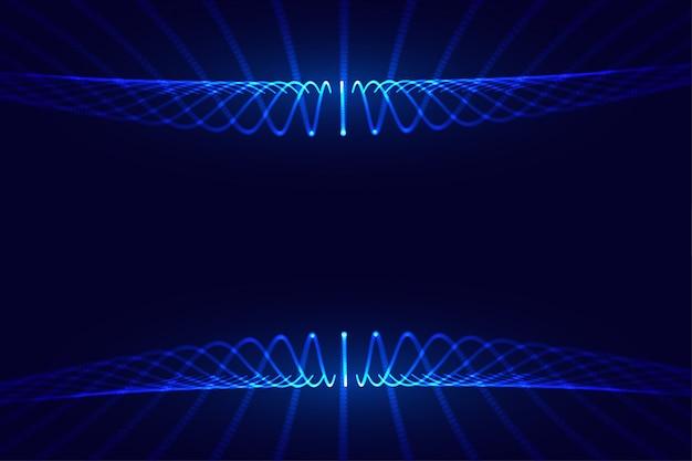 Hintergrunddesign des netzes der fließenden partikel der digitalen technologie