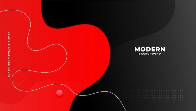 Hintergrunddesign des roten und schwarzen flüssigen gradienten