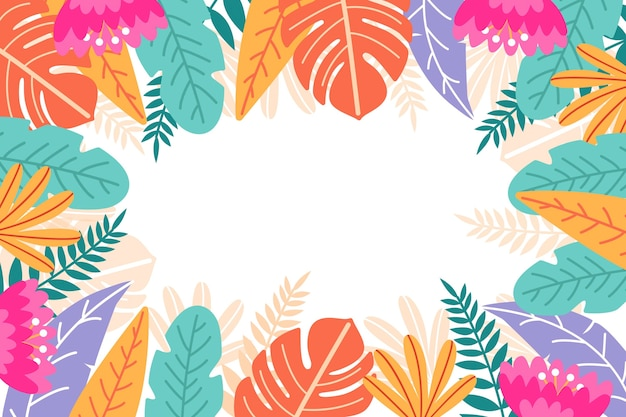Hintergrunddesign des tropischen blattes