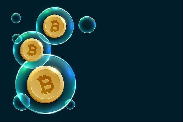 Hintergrunddesign für das konzept der kryptowährungsblase