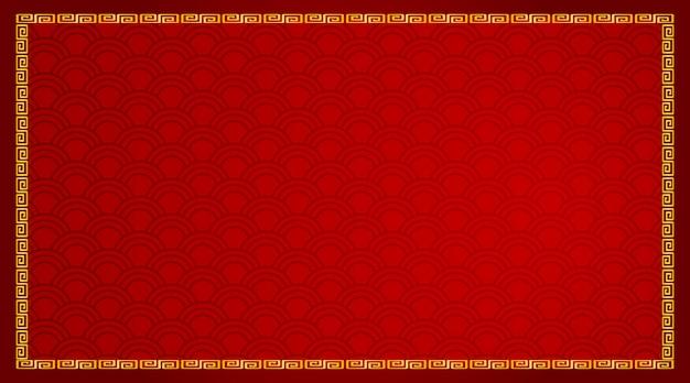 Hintergrunddesign mit abstraktem muster im rot