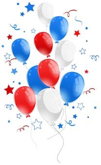 Hintergrunddesign mit ballons und sternen