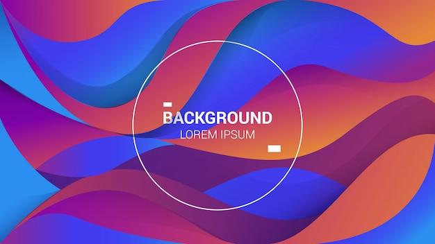 Hintergrunddesign mit eleganter verlaufsfarbe und zusammenfassung mit flüssigen und hellen farben