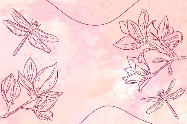 Hintergrunddesign mit handgezeichneten elementen