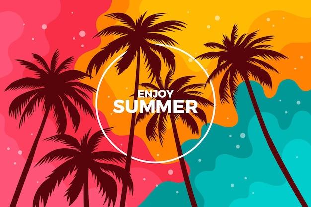 Hintergrunddesign-palmenschattenbilder