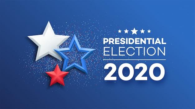 Hintergrundentwurf der amerikanischen präsidentschaftswahl.