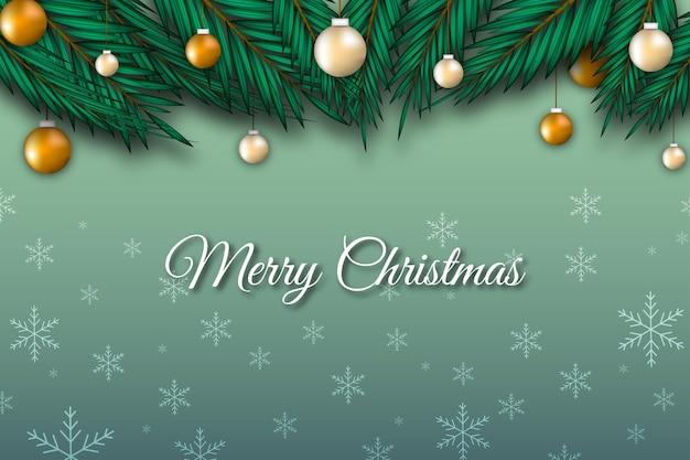 Hintergrundfahne der frohen weihnachten mit trendy