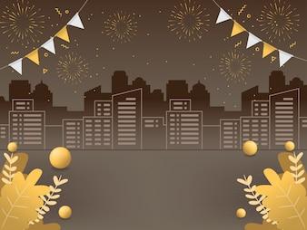 Hintergrundillustrationen des neuen Jahres