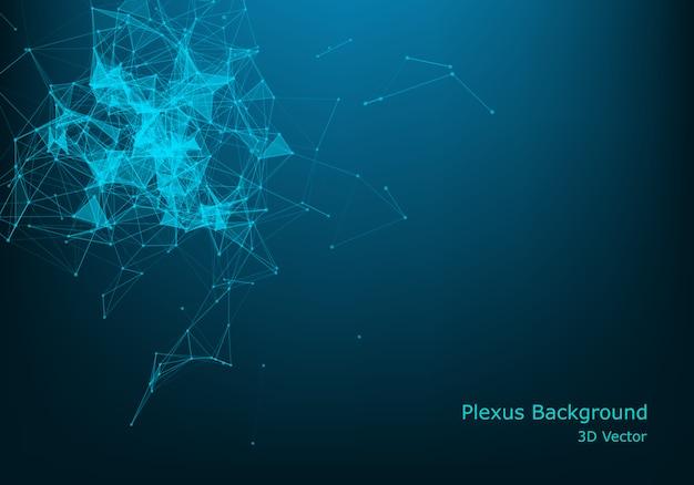 Hintergrundkommunikation des polygonalen raum wireframe.