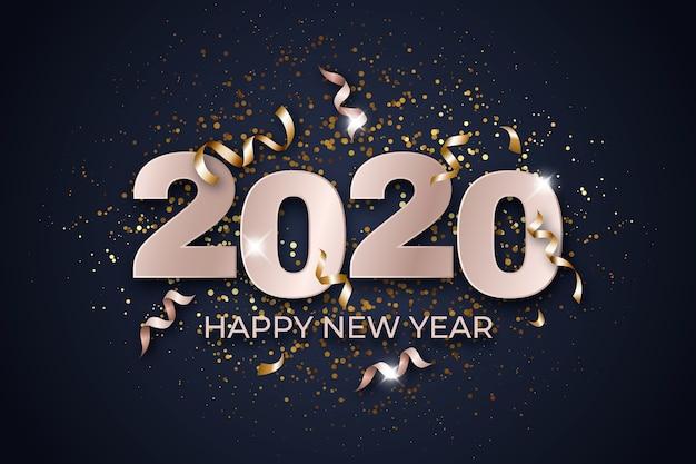 Hintergrundkonzept 2020 des neuen jahres des konfettis
