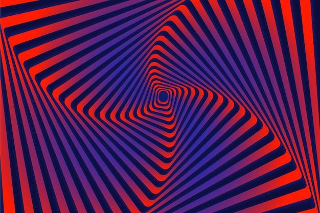 Hintergrundkonzept der psychedelischen optischen täuschung