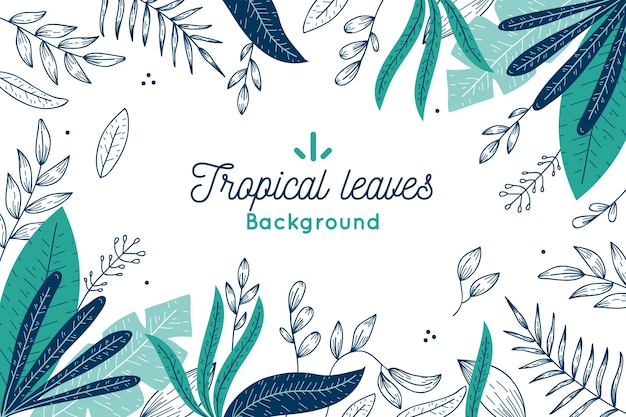 Hintergrundkonzept der tropischen blätter