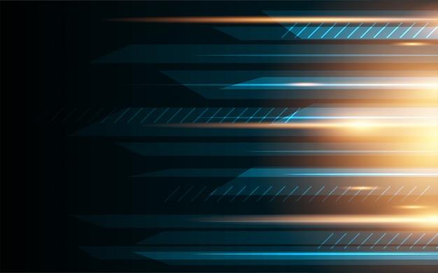 Hintergrundkonzept des abstrakten geschwindigkeitsglühbewegungsmusterdesigns