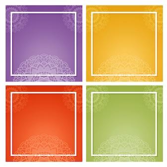 Hintergrundrahmen mit mandaladesignen