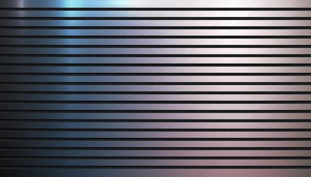 Hintergrundschablone aus poliertem metall metallische rillenstruktur aluminiumstrukturierter oberflächenhintergrund