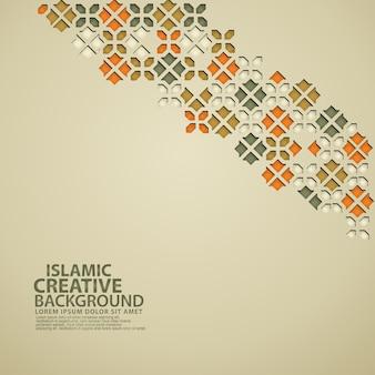Hintergrundschablone des islamischen entwurfsgrußkarten