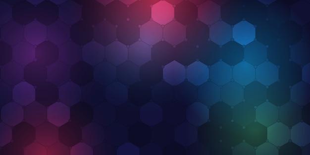 Hintergrundschablone mit geometrischem sechseckigem musterdesign