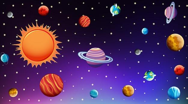 Hintergrundschablone mit hellen sternen im bewölkten himmel