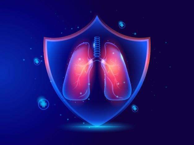 Hintergrundschilddesign des schutzschilds des medizinischen gesundheitssystems